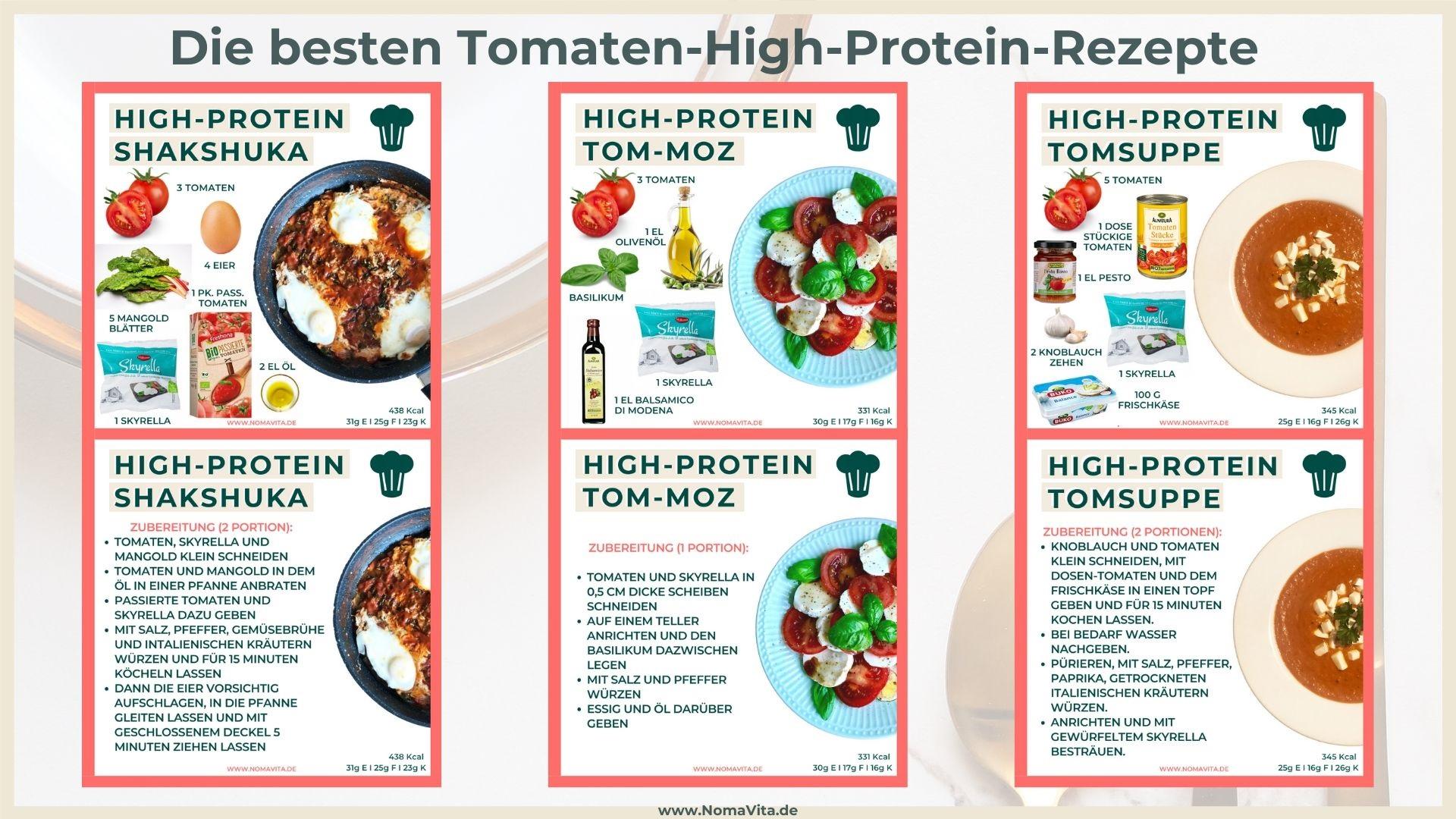Meine 3 High-Protein-Lieblingsrezepte mit Tomaten