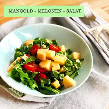 Mangold Melonen Salat – Der Sommersalat