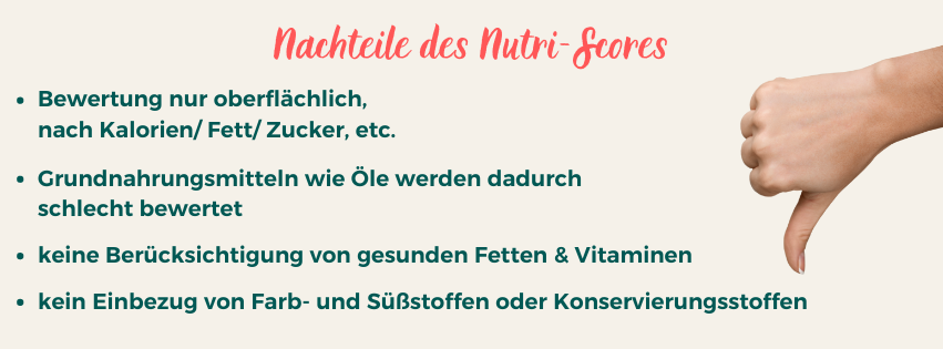 Nachteile vom Nutri-Score