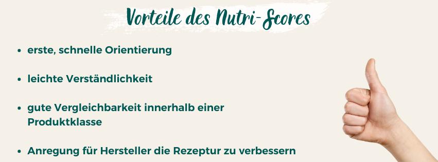 Vorteile vom Nutri-Score