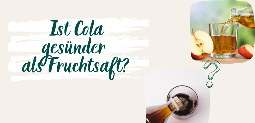 Wie viel Zucker hat Cola und Fruchtsaft